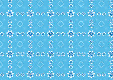 Seamless floral pattern with spirals and ribbons. White and blue Royalty Free Stock Photography