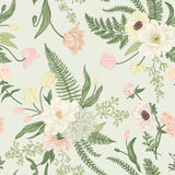 Seamless floral pattern with spring flowers. vector illustration