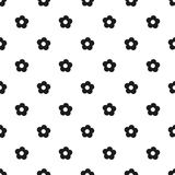 Seamless floral pattern spring summer abstract vector design decoration white background with black flowers black and white Royalty Free Stock Image