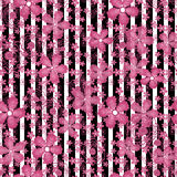 Seamless floral pattern striped background Royalty Free Stock Photo