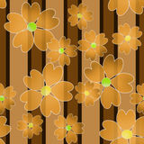 Seamless floral pattern striped background Stock Image