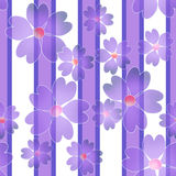 Seamless floral pattern striped background Stock Photos