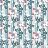 Seamless floral pattern striped background Royalty Free Stock Photos