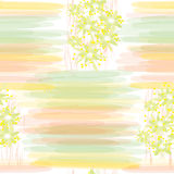 Seamless  floral pattern with stripes Royalty Free Stock Images