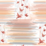 Seamless floral pattern with stripes Stock Images