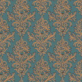 Seamless floral pattern in the style of Damascus Royalty Free Stock Photo