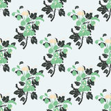 Seamless  floral pattern. Stylized silhouettes of flowers Royalty Free Stock Image