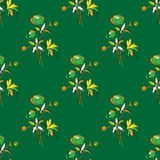 Seamless  floral pattern. Stylized silhouettes of flowers stock illustration