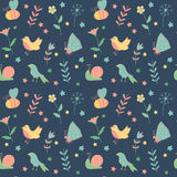 Seamless floral pattern. Summer composition with Stock Photo