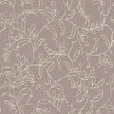 Seamless floral pattern. Summer flowers pattern with curve Royalty Free Stock Photos