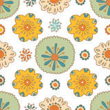 Seamless floral pattern, summer ornament, background Stock Photos