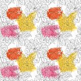 Seamless floral pattern for textiles, packaging, Wallpaper, covers. Watercolor floral background hand drawn royalty free stock image