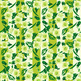 Seamless floral pattern texture striped background Royalty Free Stock Images
