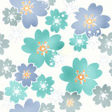 Seamless floral pattern texture on white background Royalty Free Stock Image