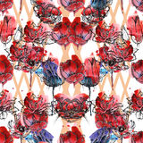 Seamless floral pattern tulips Royalty Free Stock Photo