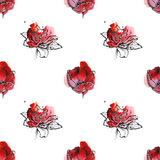 Seamless floral pattern tulips Royalty Free Stock Photography