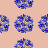 Seamless floral pattern tulips Stock Images