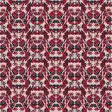 Seamless floral pattern with tulips, poppies and lilies. Complex vector print in burgundy, grey, black and pink. royalty free illustration