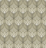Seamless floral pattern with tulips Stock Photos