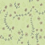 Seamless floral pattern vector Royalty Free Stock Image
