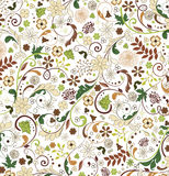 Seamless floral pattern. Vector Royalty Free Stock Image