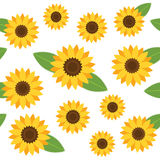 Seamless floral pattern. Vector background Stock Images