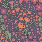 Seamless floral pattern. Vector background. For design Royalty Free Stock Images