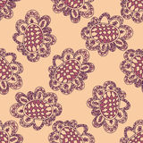 Seamless floral pattern. Vector background. Sameless zentangle Royalty Free Stock Photography