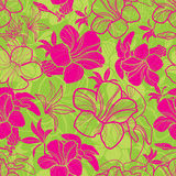 Seamless floral pattern. Vector seamless floral pattern with bright colorful flowers Royalty Free Stock Image