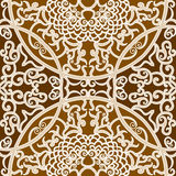 Seamless floral pattern. Vector seamless brown traditional floral pattern background Royalty Free Stock Images