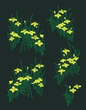 Seamless Floral Pattern in vector. flowers and leavesn stock illustration