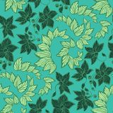 Seamless floral pattern in vector graphic in dark and light stripes royalty free illustration
