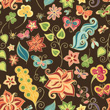 Seamless Floral Pattern (Vector) Stock Photo