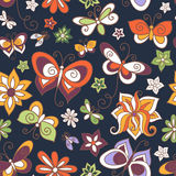 Seamless Floral Pattern (Vector) Stock Images