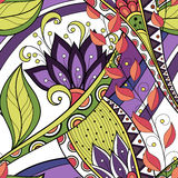 Seamless Floral Pattern (Vector) Royalty Free Stock Images