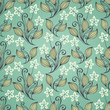 Seamless Floral Pattern (Vector) Royalty Free Stock Photography