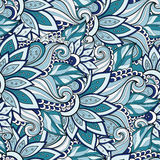 Seamless Floral Pattern (Vector) Royalty Free Stock Photos