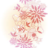 Seamless floral pattern. Vector illustrated doodle sketch design. Wrapping paper texture. Seamless floral pattern. Vector doodle sketch design. Wrapping paper Stock Images
