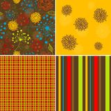 Seamless floral pattern, vector Royalty Free Stock Images
