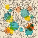 Seamless floral pattern. Vector illustration Royalty Free Stock Image