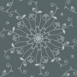 Seamless floral pattern. Vector illustration Stock Images