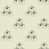 Seamless floral pattern. Vector illustration with flowers. Royalty Free Stock Photo