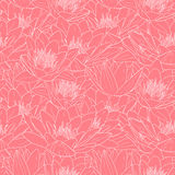Seamless floral pattern, vector illustration. Seamless floral pattern, hand drawn vector illustration Stock Photo
