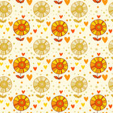 Seamless floral pattern in vector. Stock Photos