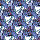 Seamless floral pattern vector illustration Stock Image