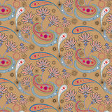Seamless floral pattern. Vector illustration. Summer, retro fashion Stock Images