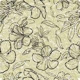 Seamless floral pattern. Vector seamless floral pattern with leafs Royalty Free Stock Image