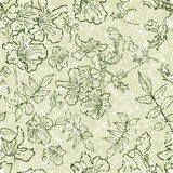 Seamless floral pattern. Vector seamless floral pattern with leafs Stock Photo