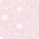 Seamless floral pattern. Vector seamless floral pink background. Pattern with cherry blossom Stock Photography