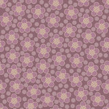 Seamless floral pattern. Vector. Seamless floral pattern with polka dots. Vector illustration Stock Illustration